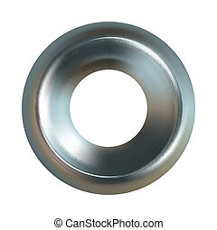 Steel washer. Realistic steel washer vector icon