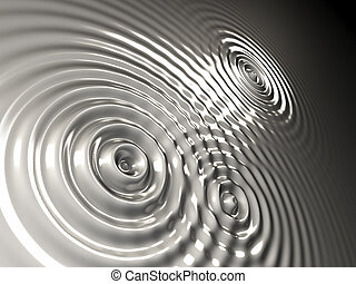 steel waves - the surface with several concentric waves