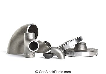 Steel welding fittings and connectors. Elbow, flanges and...