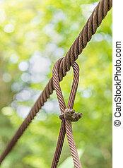 Steel wire rope lifeline on the bridge, Steel wire rope...