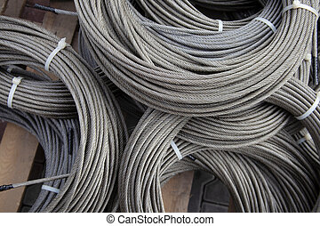 steel wire ropes in factory