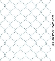 Steel wire seamless mesh. EPS 10 vector