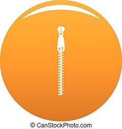 Steel zip icon vector orange