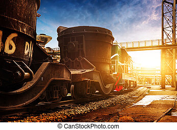 Steelworks train
