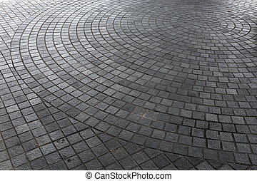 steen, blok, vloer, van, bestrating, op, stad straat