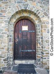steen, deur, kerk