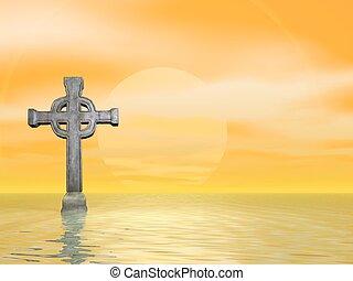 steen, kruis