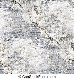 steen, oud, muur, seamless, textuur, barst