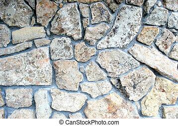 steen, wall.