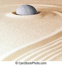 steen, zen, achtergrond