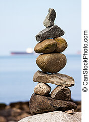 steenhoop, strand., rots