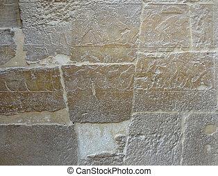 steenmuur, detail