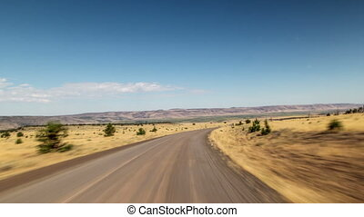 Steens Oregon Driving - Driving time lapse in the steens in...