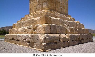steentextuur, van, de, graf, van, cyrus