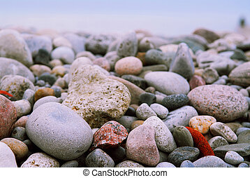 steentjes, strand