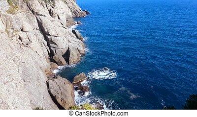Steep Cliffs of the Ligurian Sea in Portofino