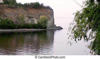 Steep coast of the river