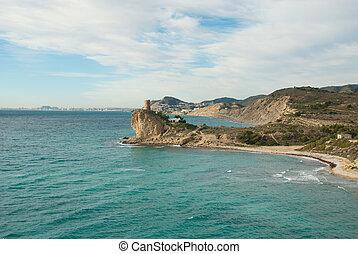 Steep coastline