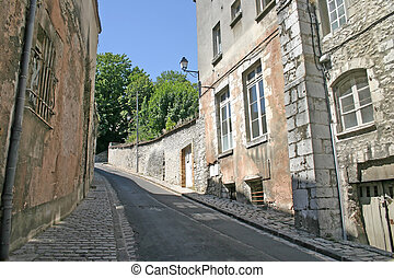 Steep Lane in French Town