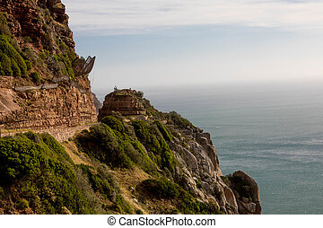 Steep Mountain Cliff - Steep Cliff Next to the Shore