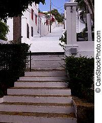 Steep steps in St Thomas