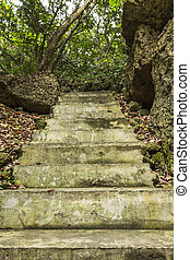 Steep stoned steps at Eluanbi Park, Kenting National Park