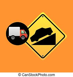 steep traffic sign concept
