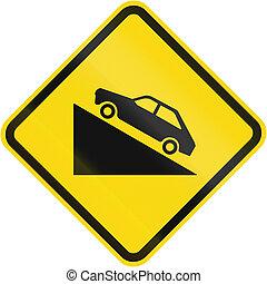 Steep Uphill Grade warning used In Brazil
