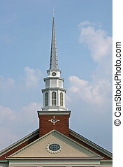 Steeple 2 - Steeple on top of church