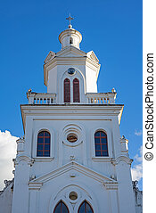 Steeple of an old colonial church