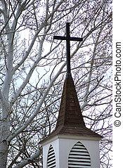 steeple., templom