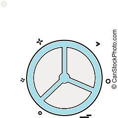 Steering car van icon vector design