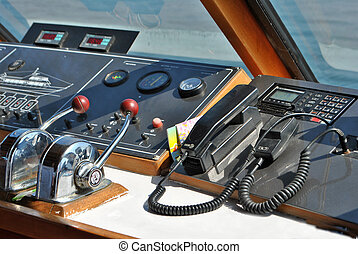 steering compass and instruments for sea