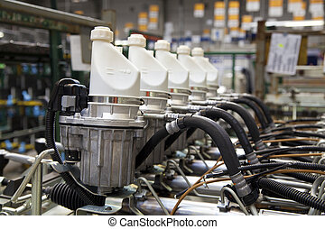 Steering gear - In a factory of steering gears