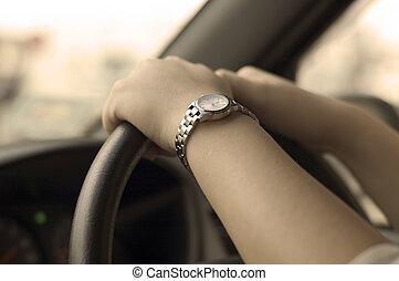 Steering the car