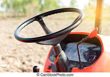 Steering wheel agricultural tractor.