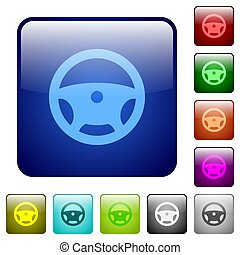 Steering wheel color square buttons
