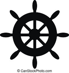Steering wheel icon on white background. Vector...
