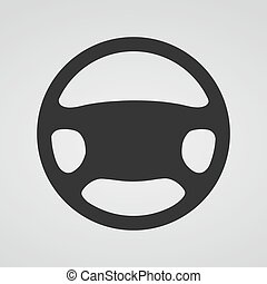 Steering wheel icon. Vector illustration. - Steering wheel...