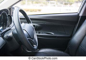 Steering wheel in the car