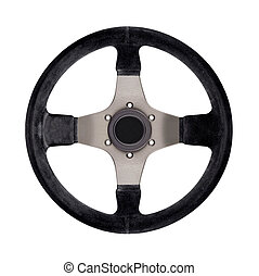Steering wheel isolated on white