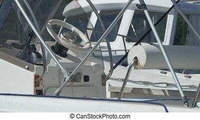 Steering Wheel on Speedboat - STeering wheel of a speedboat...