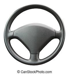 Steering Wheel - Steering wheel isolated on a white...