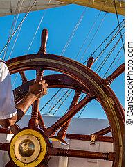 steering wheel - steering a ship