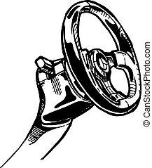 Steering wheel - vector illustration of a steering wheel ...