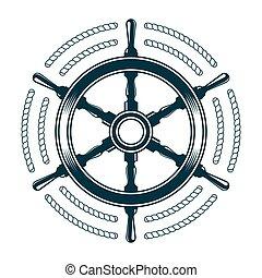 steering wheel with rope