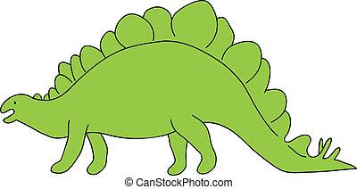 stegosaur, 恐竜
