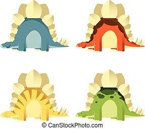 stegosaurs, セット