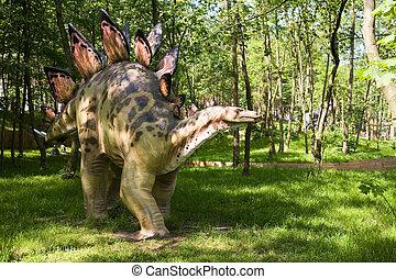 Stegosaurus armatus - Jurassic park - set of dinosaurs -...