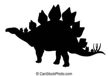 Stegosaurus black silhouette